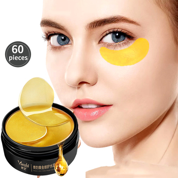 60pcs Gold Collagen Eye Mask Remove Dark Circles Whitening Essence Eye Patches Firming Sleep Mask Moisturizing Eyes Skin Care efero collagen eye mask gel eye patches face care sheet masks wrinkle eyes bags remover dark circles for face mask eye mask 60pc