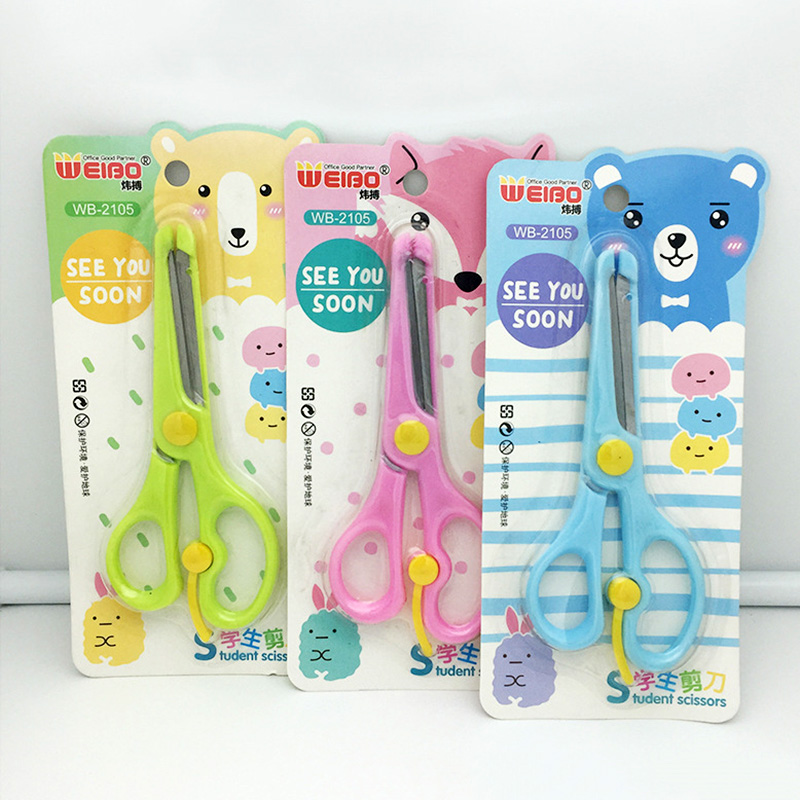 5 Inch Safe Craft Scissor For Children School Supplies Stationery Students Paper Scissors Office Cutting Tool