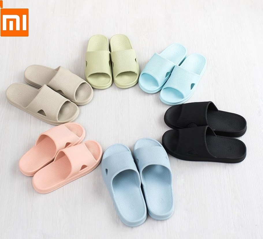 Xiaomi One Cloud Family Slippers Men Women Home Bathroom Slippers Soft Bottom Indoor Home Sand Drag Non-slip Wear Bathing Slippe
