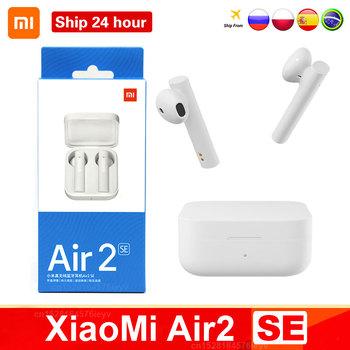 Oryginalny Xiaomi Air2 SE bezprzewodowy zestaw słuchawkowy Bluetooth 5 TWS AirDots Pro 2SE Mi prawdziwe bezprzewodowe słuchawki długi tryb gotowości sterowanie dotykowe tanie i dobre opinie douszne Technologia hybrydowa CN (pochodzenie) Prawdziwie bezprzewodowe Do kafejki internetowej Słuchawki do monitora Do gier wideo