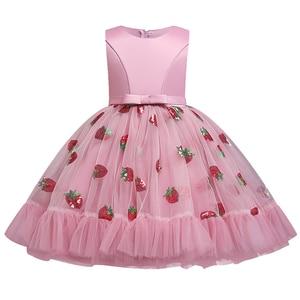 Image 2 - Вечерние платья с вышивкой для девочек; Платье с цветами и бусинами для девочек; Одежда для свадьбы; Вечерние платья; Детский костюм Pengpeng Show