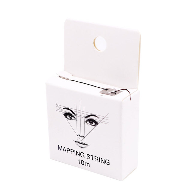 10m 2pcs Measuring Ultra Thin Pre Inked Mapping String Brows Point Eyebrow Marker Thread Permanent Microblading Positioning 3