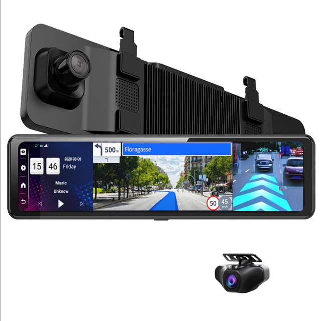 12 inch Car DVR Rearview Mirror 4G Android 8.1 Dash Cam GPS Navigation Full HD 1080P Car Video Recorder DVR 4