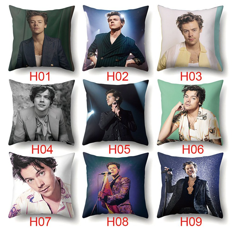 Harry Styles Pillow Cover Home Cotton Cushion Cover Decoratives Cushions For Sofa Seater Covers Car Pillow Case 45*45cm