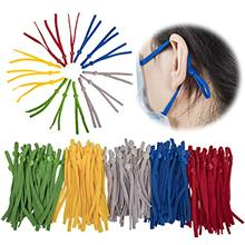 50/100 pçs ajustável máscara corda costura elástico cabo com fivela branco preto corda diy fazendo acessórios suprimentos