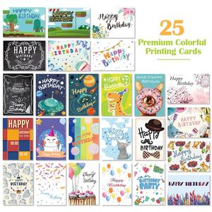 Image 2 - 40PCS Birthday Cards with 40PCS Envelopes Creative Birthday Cards Bulk Box Set Party Supplies