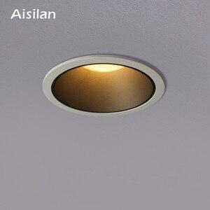 Image 1 - Aisilan светодиодный светильник фоновый Точечный светильник высокого качества алюминиевый точечный потолочный светильник кри чип