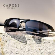 CAPONI الاستقطاب النظارات الشمسية للذكور خمر الرياضة فوتوكروميك النظارات الكلاسيكية العلامة التجارية مصمم نظارات شمسية الرجال UV400 BS3218