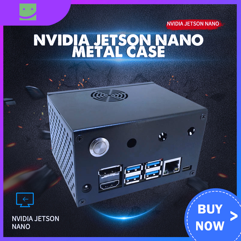 NVIDIA Jetson Nano Metal Case / Enclosure With Power & Reset Control Switch For NVIDIA Jetson Nano Developer Kit