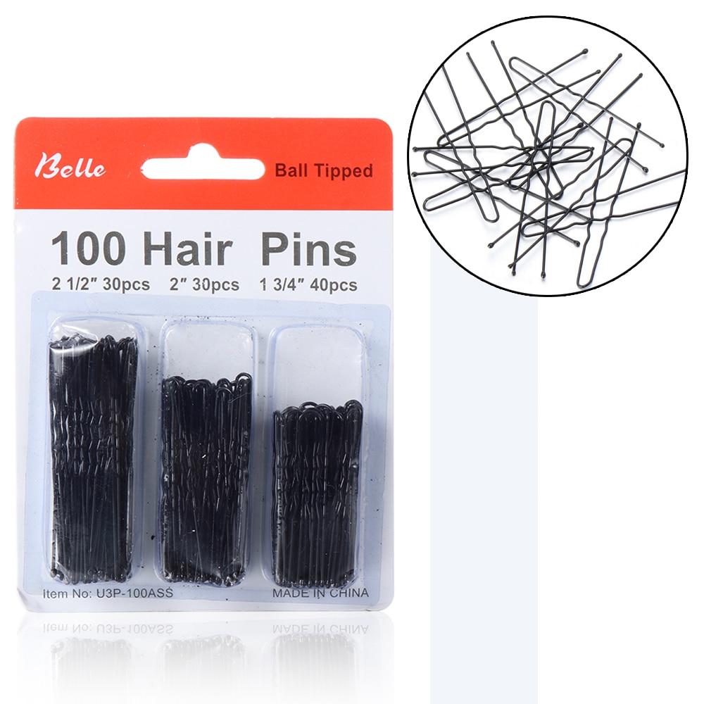 100 шт. черные u-образные заколки для волос, женские металлические заколки для волос, u-образная заколка для волос, аксессуары для укладки воло...