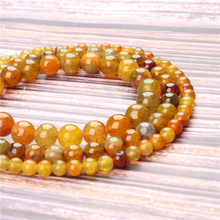 Hot Sale Natural Stone Yellow Popcorn Agate Beads 15.5 Pick Size: 4 6 8 10 mm fit Diy Charms Beads Jewelry Making Accessories