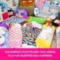 Спальные мешки, подушка для игр, Забавный спальный мешок, Розовый кошка-сюрприз, детская мягкая удобная легко переносная детская подушка