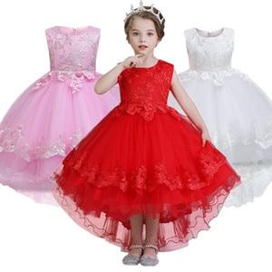 2019 Christmas Dress Girl Wedding Gown Party Elegant Princess Dress Kids Dresses For Girls Children Clothing vestidos 4-10 Years