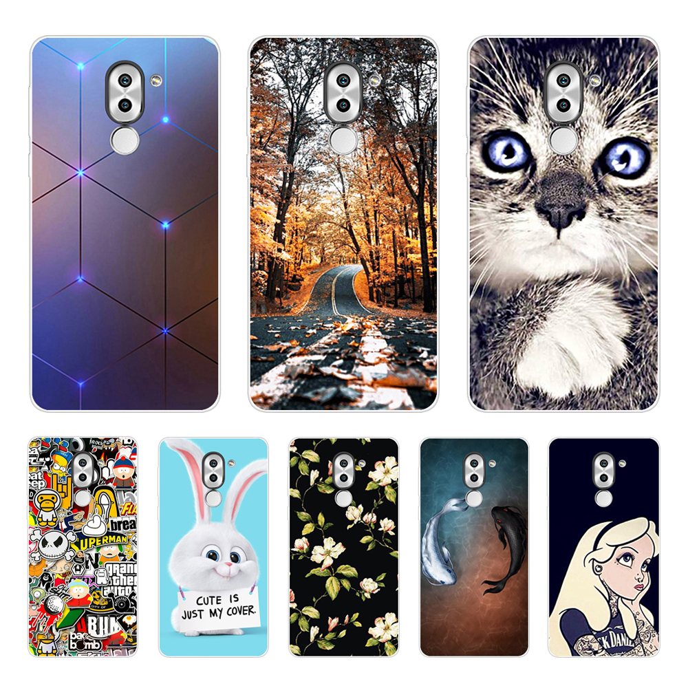 Silicone Phone Case For Huawei Honor 6X Cases For Honor6X  Phone Shell Soft TPU Phone Back Cover Full 360 Protective New