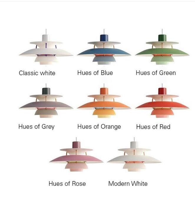 Haute qualité E27 suspension colorée parapluie Led suspension lampe salle à manger pendentif Led lampe Led lampara luminaires