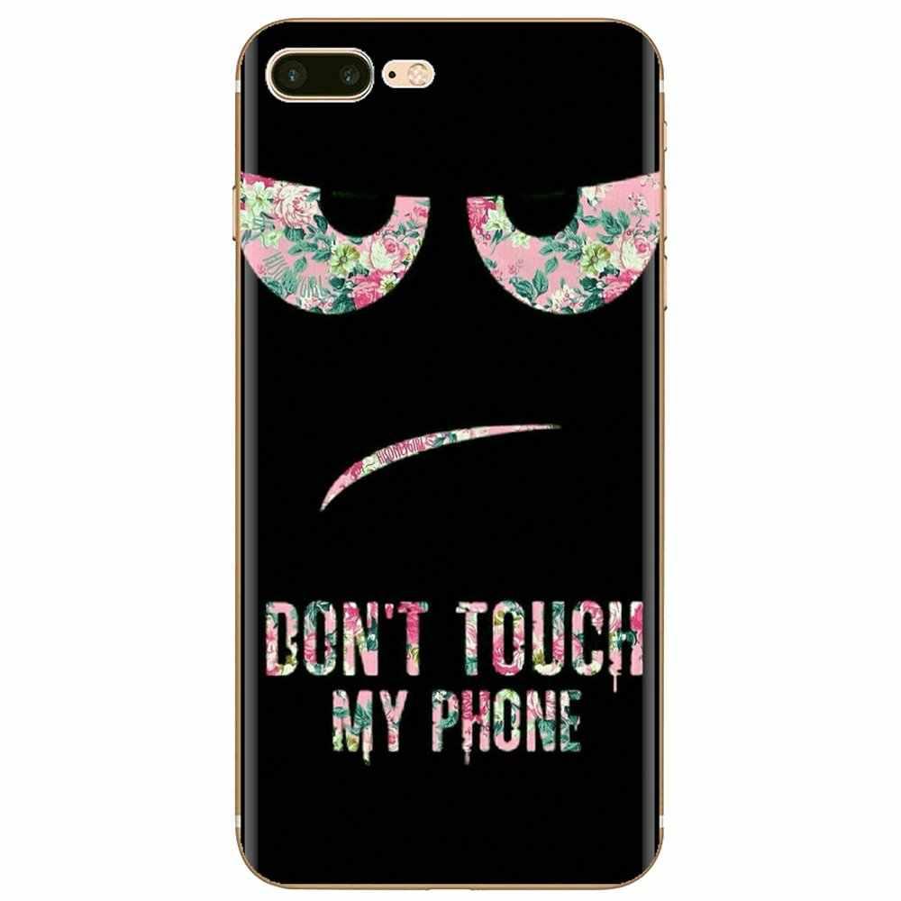 Nie dotykaj mojego telefonu spersonalizowane silikonowe etui na telefon xiaomi mi 5 mi 5S mi 6 mi A1 A2 5X6X8 9 Lite SE Pro mi Max mi x 1 2 3 2S