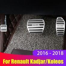 Alüminyum alaşım araba gaz pedalı gaz pedalı fren pedalları kapak kaymaz ped AT Renault Kadjar Koleos 2016 2017 2018 aksesuarları