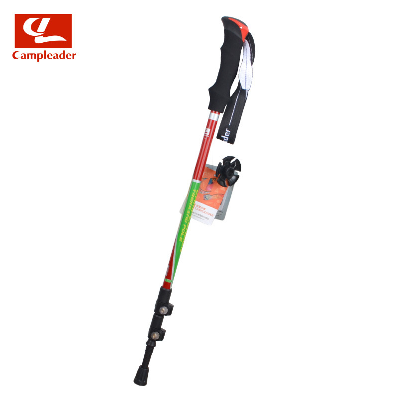 Cape External Lock + Inner Lock Double Lock-Shaped Ultra-Light Alpenstock 7075 Alpenstock Aluminum Alloy Walking Stick