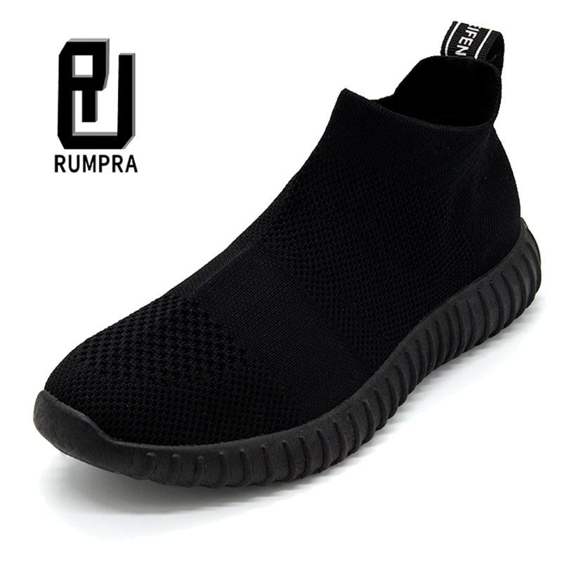 Женские теннисные туфли, дышащая сетчатая обувь, увеличивающая рост, 3,5 см, женская спортивная обувь без шнуровки, высокие кроссовки с толст...