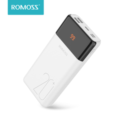 20000mAh ROMOSS LT20PS+ Power Bank Portable External Battery With QC Two-way Fast Charging Portable Charger For Phones Tablet