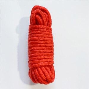 Image 5 - 弓でピンクと赤のソフトツイストロープエロバンドル綿ボンデージ Long10M 緊縛イメージプレイセックス玩具キット大人のセックスゲーム製品