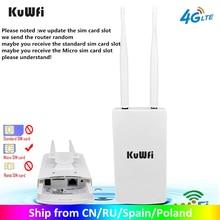 Roteadores exteriores impermeáveis de kuwfi 4g cpe do roteador 150mbps cat4 lte roteadores 3g/4g cartão sim roteador wi fi para a câmera ip/cobertura exterior de wifi