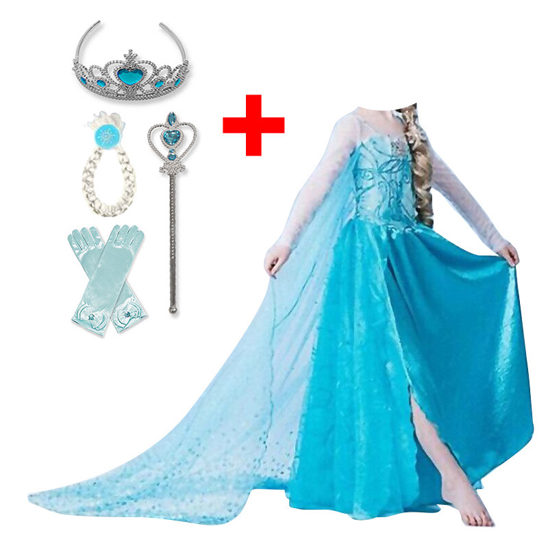 Baby Girl Princess Dress for Girls Childen Clothing Fancy Cosplay Halloween Costume Carnival Party Children Birthday Dress 2