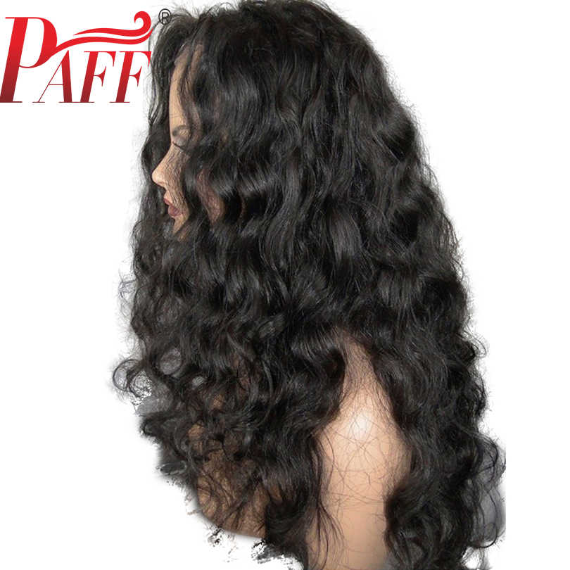 PAFF 13x4 Loose Wave Lace Front Human Hair Wigs Side Parts Glueless Brazilian Remy Hair Pre Plucked Bleached Knots
