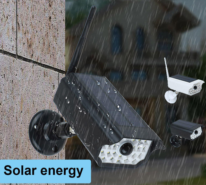 New Solar Induction Light Waterproof IP66 Garden Wall LED Lights For Solar Simulation Surveillance Dummy Camera Lamp