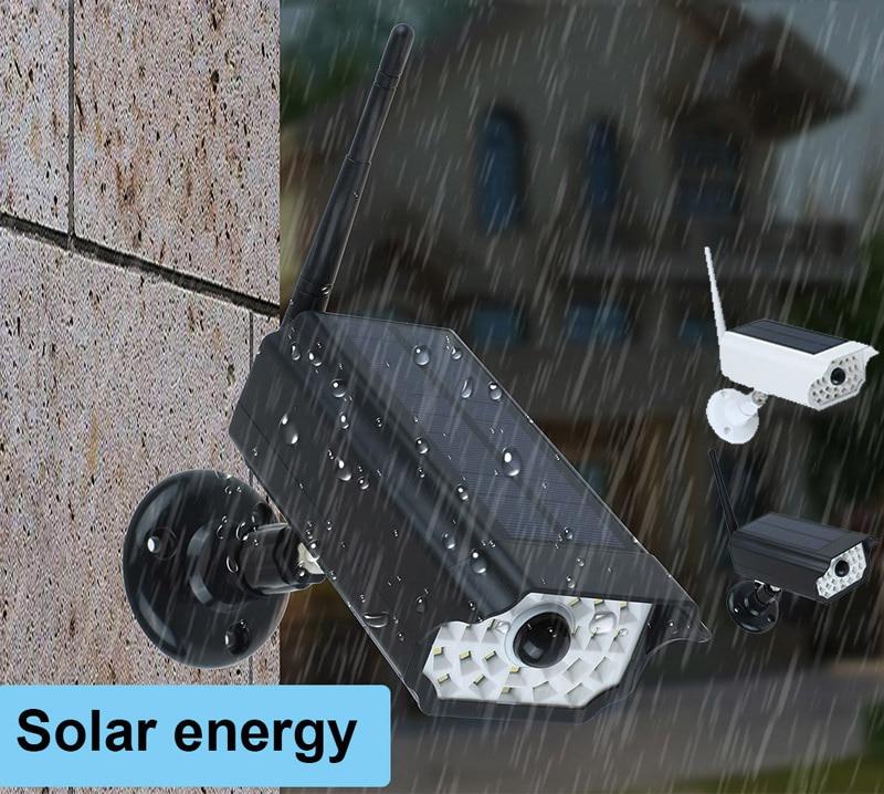 New Solar Induction Light Waterproof IP66 Garden Wall LED Lights For Solar Simulation Surveillance Dummy Camera Lamp