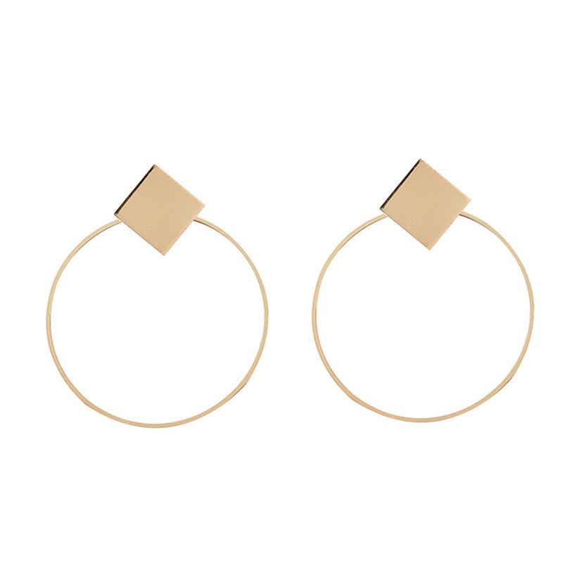 2019 Time-limited Aretes Aros Brincos Para As Mulheres Round Circular Fashion Temperament Metal Ear Ring Earrings Hoop Drop