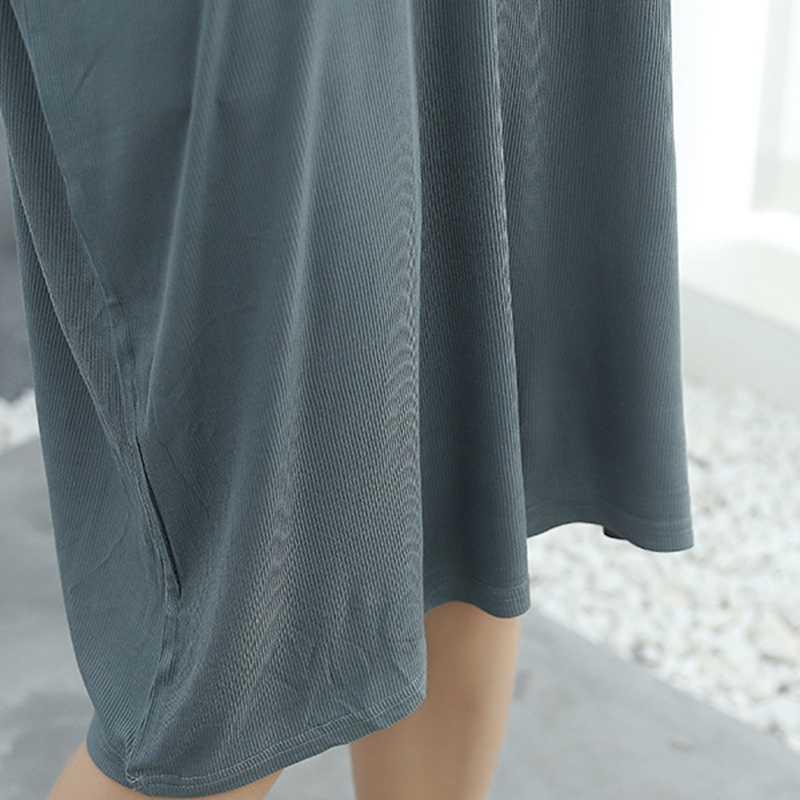 فضفاضة ليلة تنورة كبيرة الحجم فستان الصيف النساء الحوامل تنورة الدهون ملليمتر ليلة تنورة الإناث خدمة المنزل بسيطة gecelik مثير جديد