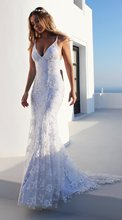 2019 Time-limited Polyester Empire Sleeveless Dress European And American New Long Explosion Sexy V-neck Lace Party