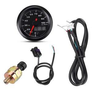 "Image 5 - 2"" 52mm Car Gauge LED Dual Display Boost Tachometer Water Temp Oil Exhaust Temp Oil Pressure Volt Air Fuel Ratio  Gauge 7 Colors"