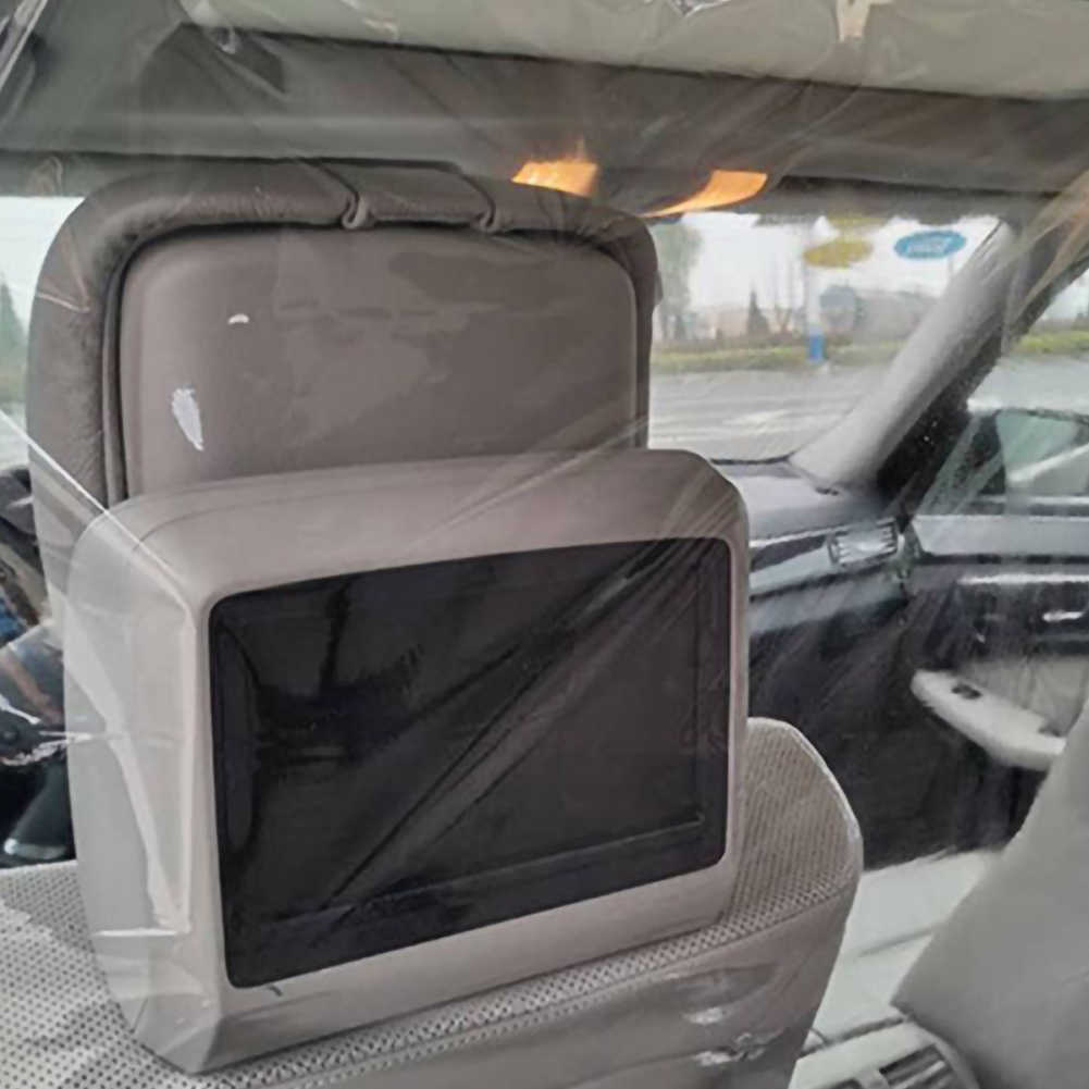 Car Taxi Isolation Film Plastic Anti-Fog Full Surround Protective Cover Cab Front and Rear Row Isolation Film Transparent Isolation Membrane Curtain PVC Film Protective Cover