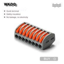Conector de empalme compacto de cableado rápido, bloque de terminales, 20 Uds.