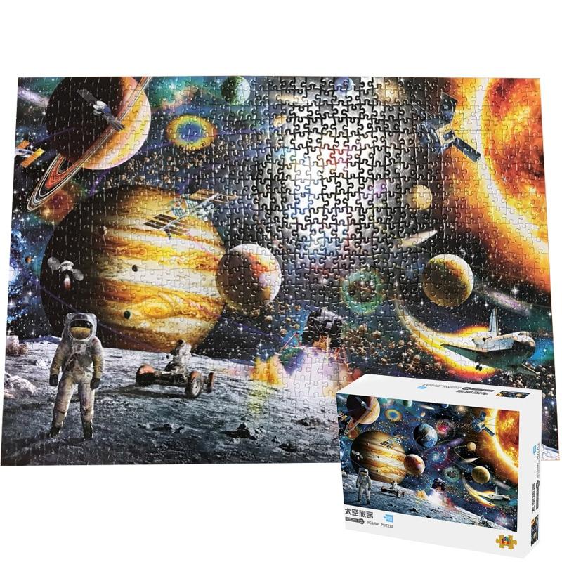 Jigsaw Puzzle 1000 Pieces For Adults Space Journey 1000 PCS Puzle Brain Pazzle Toy Puzzles