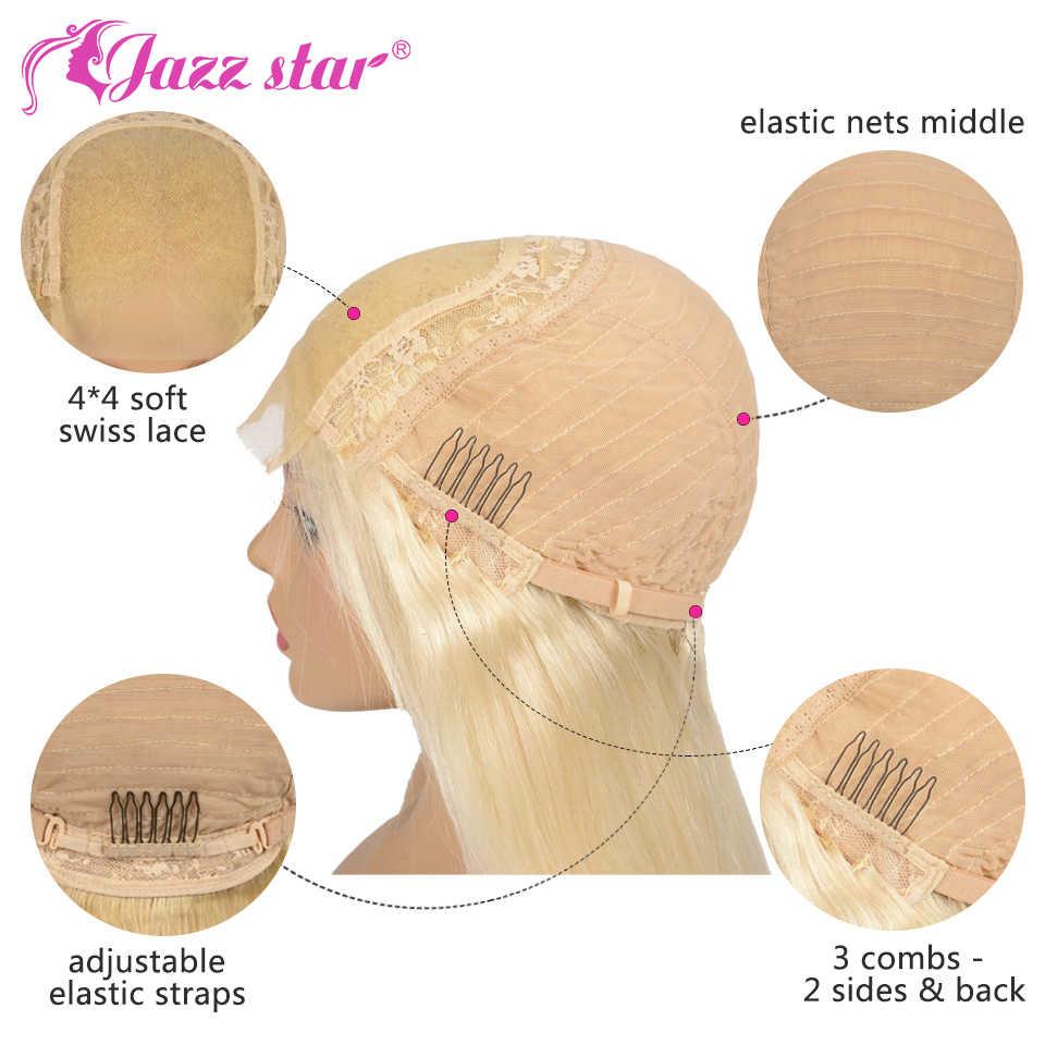 Braziliaanse Pruik 4x4 Vetersluiting Pruik 613 Blonde Pruik Body Wave Menselijk Haar Pruiken voor Zwarte Vrouwen 150% dichtheid Jazz Ster Haar Non-Remy