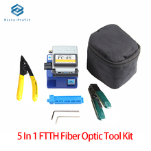 5 em 1 kit de ferramentas fibra óptica fibra ftth optica herramientas FC 6S cutelo miller alicate stripper medidor de potência óptica vfl 5km