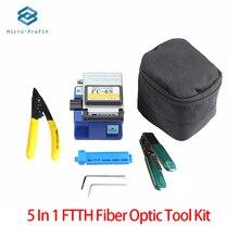 Kit de Herramientas de Fibra óptica 5 en 1, alicates de corte FC 6S Miller, medidor de potencia óptica VFL 5KM