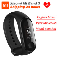 In Voorraad Xiaomi Miband 3 Mi Band 3 Fitness Tracker Hartslagmeter 0.78 Oled scherm Touchpad Bluetooth 4.2 voor Android Ios