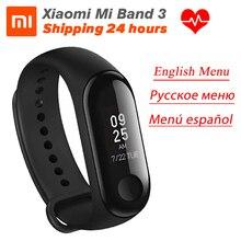 Stokta Xiaomi MiBand 3 Mi band 3 spor izci kalp hızı monitörü 0.78 OLED ekran Touchpad Bluetooth 4.2 android IOS için