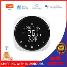 Tuya inteligentne Wifi termostat regulator temperatury do wody elektryczne ogrzewanie podłogowe kocioł gazowy wody współpracuje z Alexa Google Home tanie tanio CN (pochodzenie) Thermostat