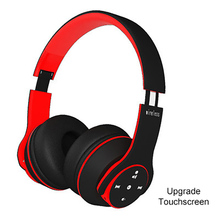 3D HIFI Stereo Sport Bluetooth Headphone Touch Foldable Gaming Headset With Mic FM TF Card Noise Reduction Headphones zealot b570 bluetooth headphone foldable wireless hifi stereo headsets with lcd screen micro sd card slot mic fm radio for music