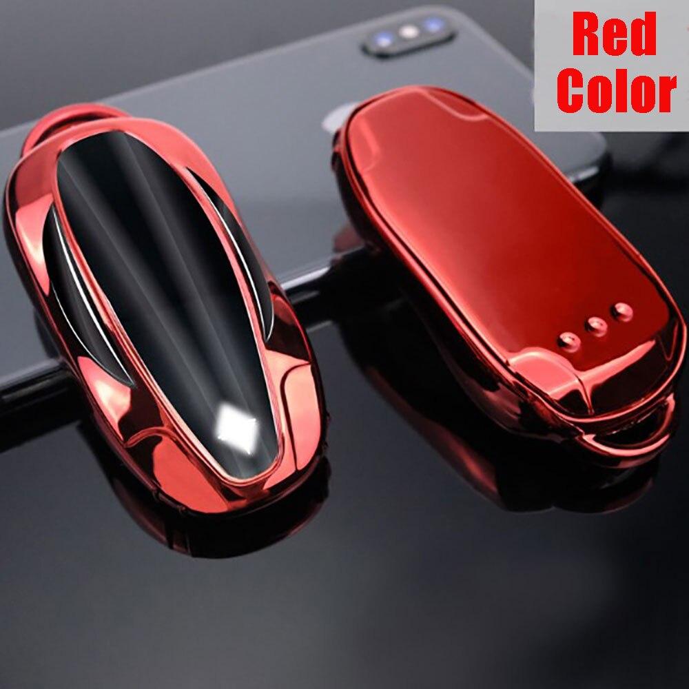 5 цветов ТПУ удаленный умный чехол для брелка с ключом оболочка подходит для Tesla модель 3 17-20