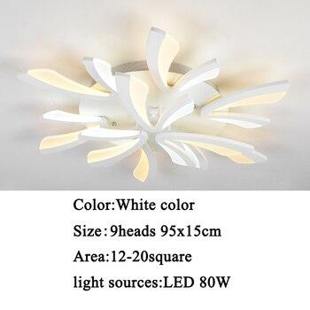 Led ceiling light for living room bedroom White/Black Simple Plafond led ceiling lamp home lighting fixtures AC90-260V 11