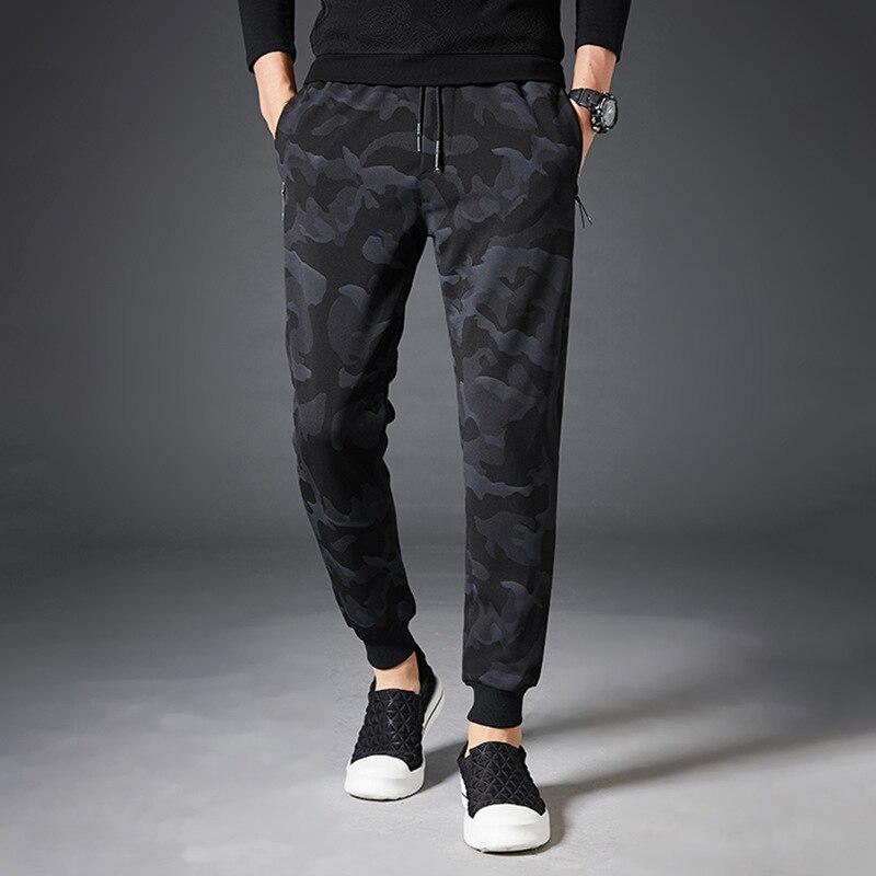 Trousers Casual Pants Men's Korean-style Trend Sports Capri MEN'S Knitting Pants Loose-Fit Workwear Ankle Banded Pants Micro Ela