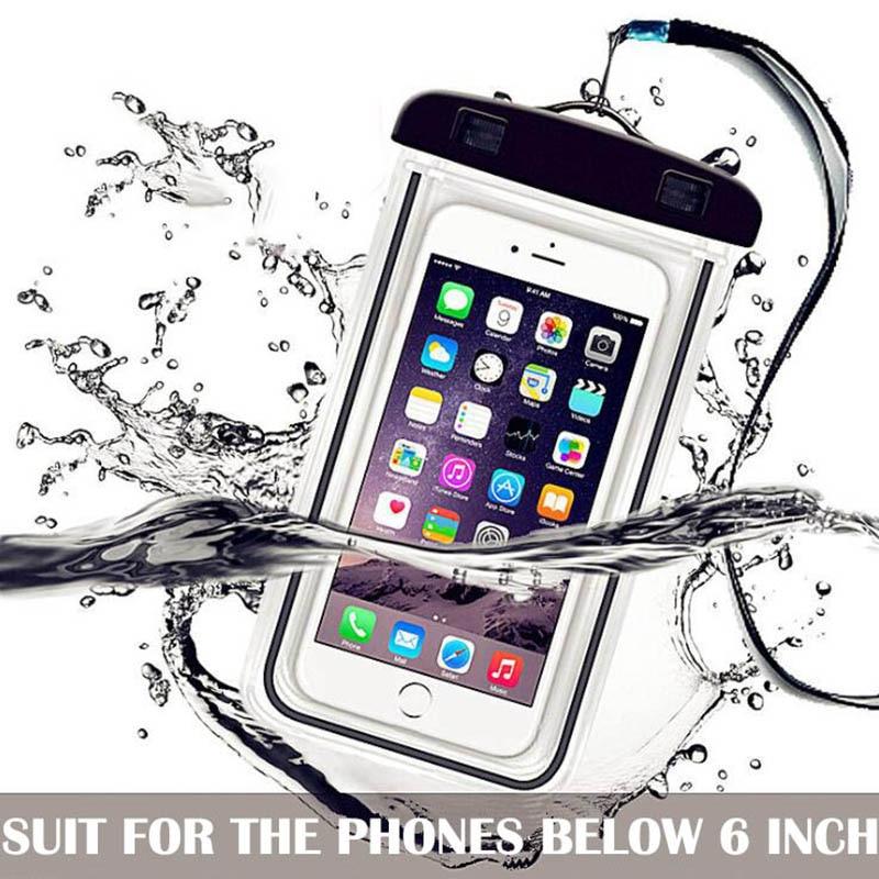 Waterproof Phone Bag Drift Diving Swimming Bag Underwater Dry Bag Case Water Sports Beach Pool Skiing For Phone 6 inch Cover