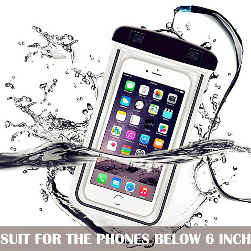 Waterproof Phone Bag Drift Diving Swimming Bag Underwater Dry Bag Case Water Sports Beach Pool Skiing For Phone 6 Inch Cover