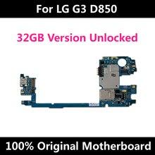 マザーボードlg G3 D855 D852 D850 VS985バージョンロック解除とフルチップオリジナルのandroid osシステムロジックボード